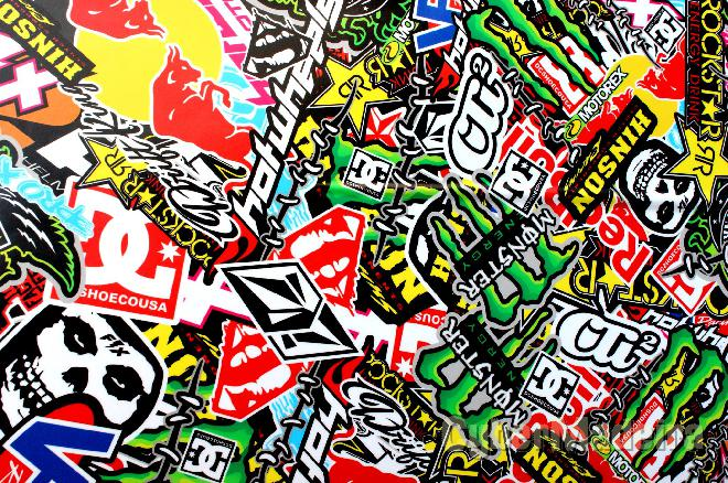 sticker bombs