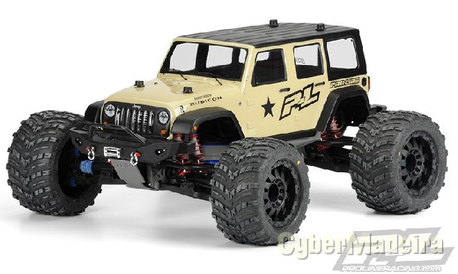 Capa transparente , rubicon monter truck body clear pro-line,..nova