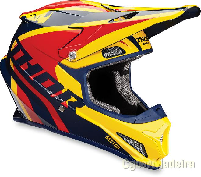Thor Capacete Thor SECTOR RICOCHET MATTE NavyYellow