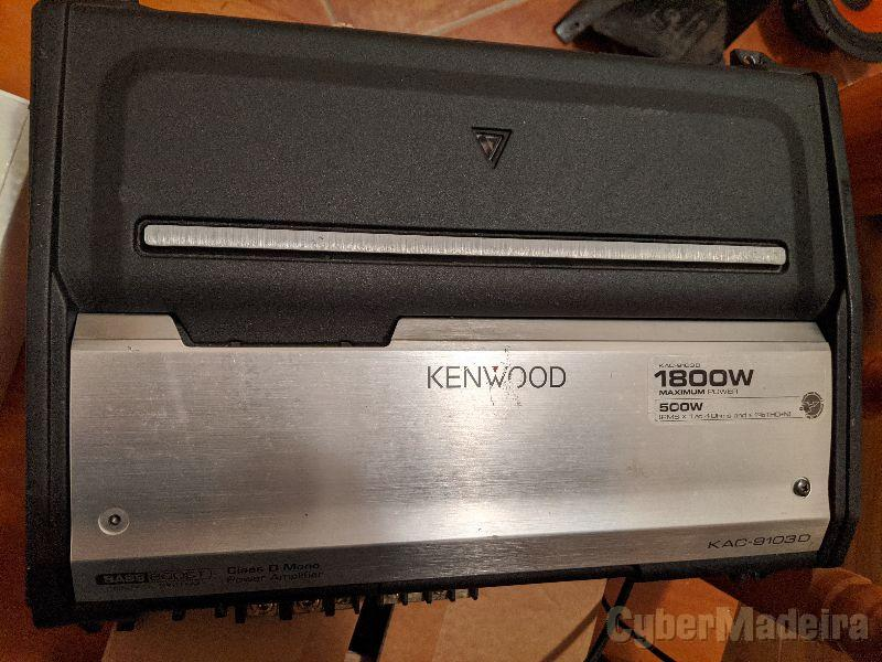 Amplificador subwoofer 1 via Kenwood KAC-9103D 1800w