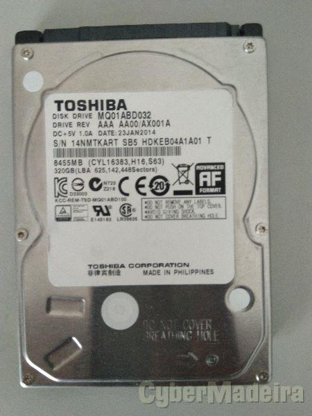 "DISCO TOSHIBA 320GB 2,5"" SATA"